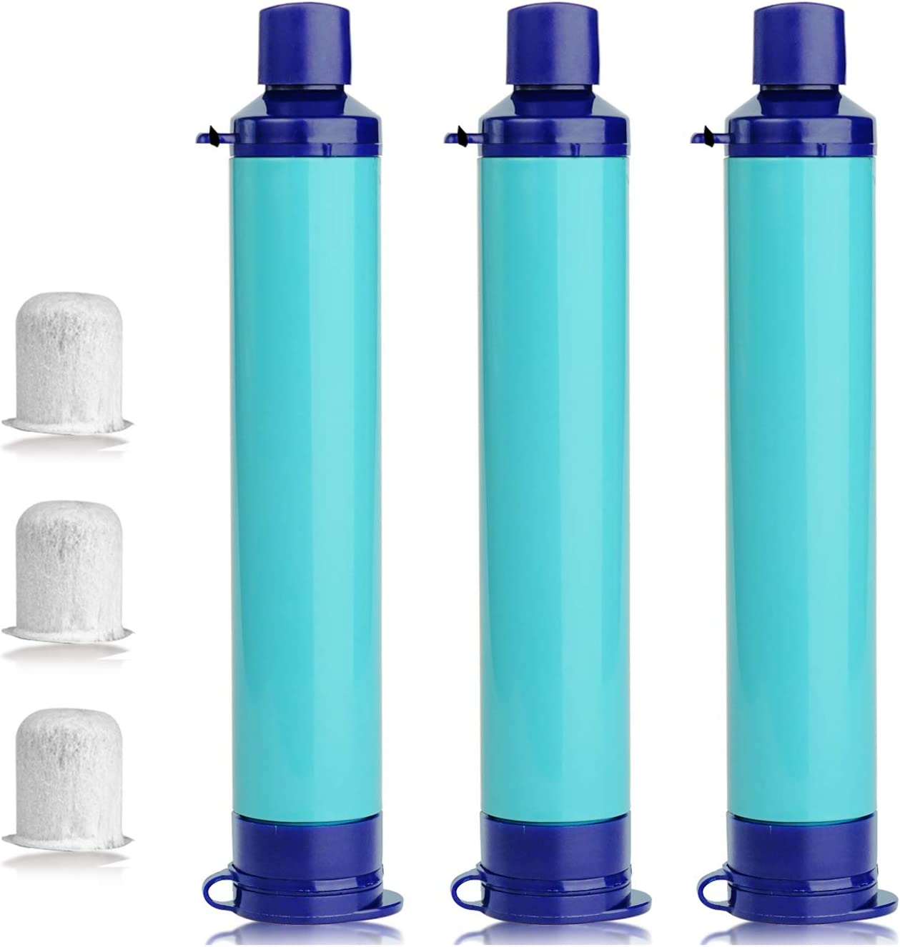 SimPure Water Filter Straw Purifier Survival for Travel, Hiking, Camping, Emergency