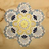 Original Geometry pattern - Golden - Metallic Color- Stained - Islamic Art- Home/Office decor