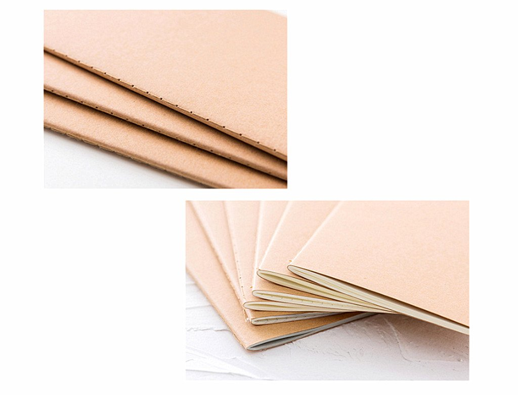 6pcs Travelers' Notebook Thread-bound Journal Diary Memo Pad,A5 Size & 30 sheets(Ruled Pages) by Alimitopia (Image #5)
