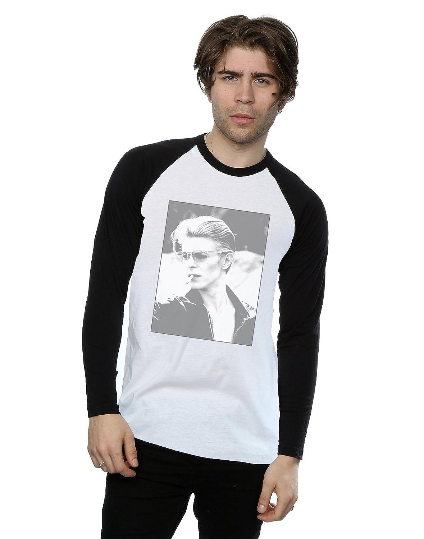 David Bowie Men's Wild Profile Framed Long Sleeved Baseball Shirt