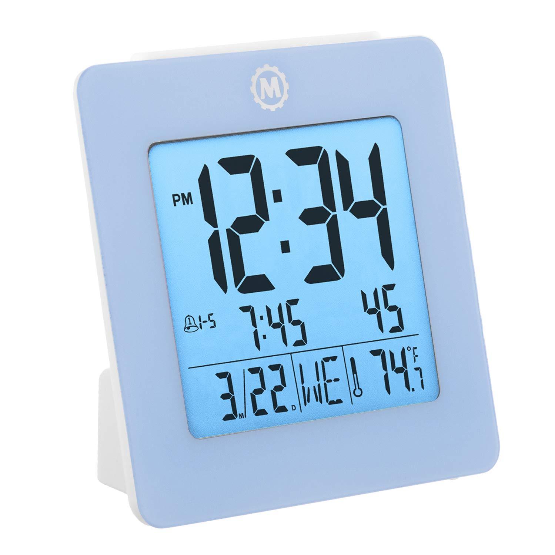 Amazon.com: Marathon CL030050BL Digital Dual Alarm Clock with Day ...
