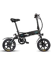 Brownrolly Bicicletta elettrica da 250W Sport ad Alta Potenza, Materiale Alto, Pieghevole, Regolabile in Altezza, Adatta per attività Esterne a Breve e Media Distanza