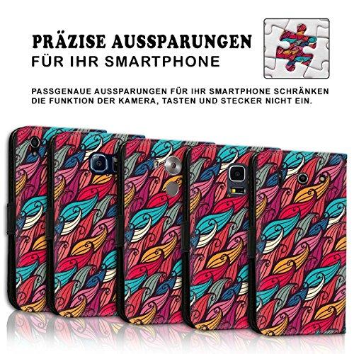 Wallet Book Style Flip Handy Tasche Case Schutz Hülle Schale Motiv Etui für Apple iPhone 6 / 6S - Design Flip MVD81