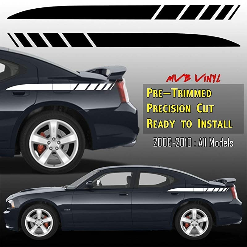 """06 11 12 13 15 16 17 Dodge Charger 11/"""" Faded Rally Stripe Stripes Graphics Decal"""