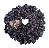 From The Attic Crafts Primitive Americana Rag Wreath I Love America