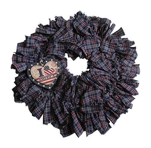 From The Attic Crafts Primitive Americana Rag Wreath