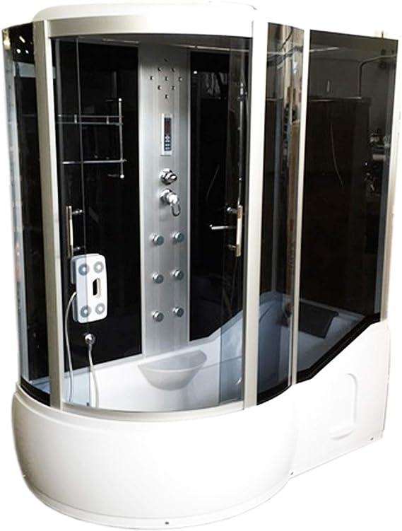 Bañera de esquina 170 x 90 cm h 220cm Ducha Cabina hidromasaje ...