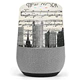 Skin Decal Vinyl Wrap for Google Home stickers skins cover / New York City Music Notes