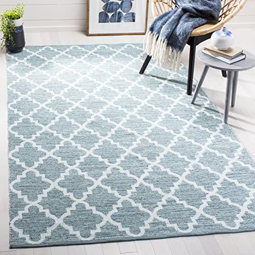 Safavieh Montauk Collection MTK611T Mint Green and Ivory Area Rug 8 x 10