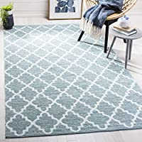 Safavieh Montauk Collection MTK611T Mint Green and Ivory Area Rug (3 x 5)
