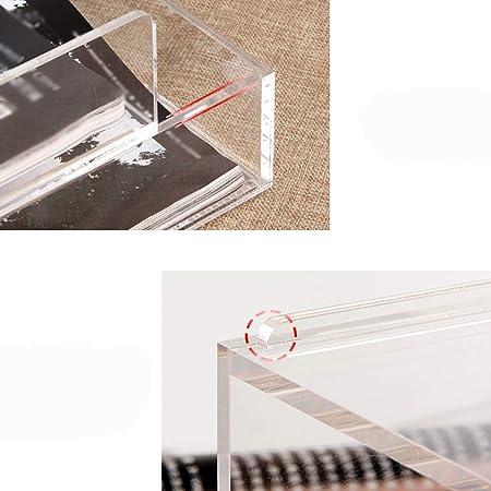 Scatola di immagazzinaggio Vassoio Porta-Documenti in Acrilico Multifunzione per Ufficio A4
