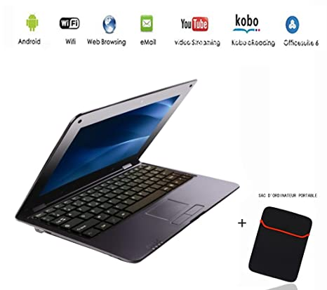 G-Anica Netbook Ordenador portátil Ultrabook con Android 4.4, pantalla de 10,3