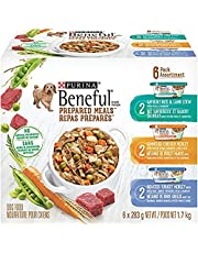 Beneful Prepared Meals Wet Dog Food Variety Pack - Lamb Stew, Simmered Chicken Medley, Roasted Turkey Medley, 283 g, pack of 6