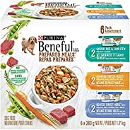 Beneful Prepared Meals Wet Dog Food Variety Pack - Lamb Stew, Simmered Chicken Medley, Roasted Turkey Medley,