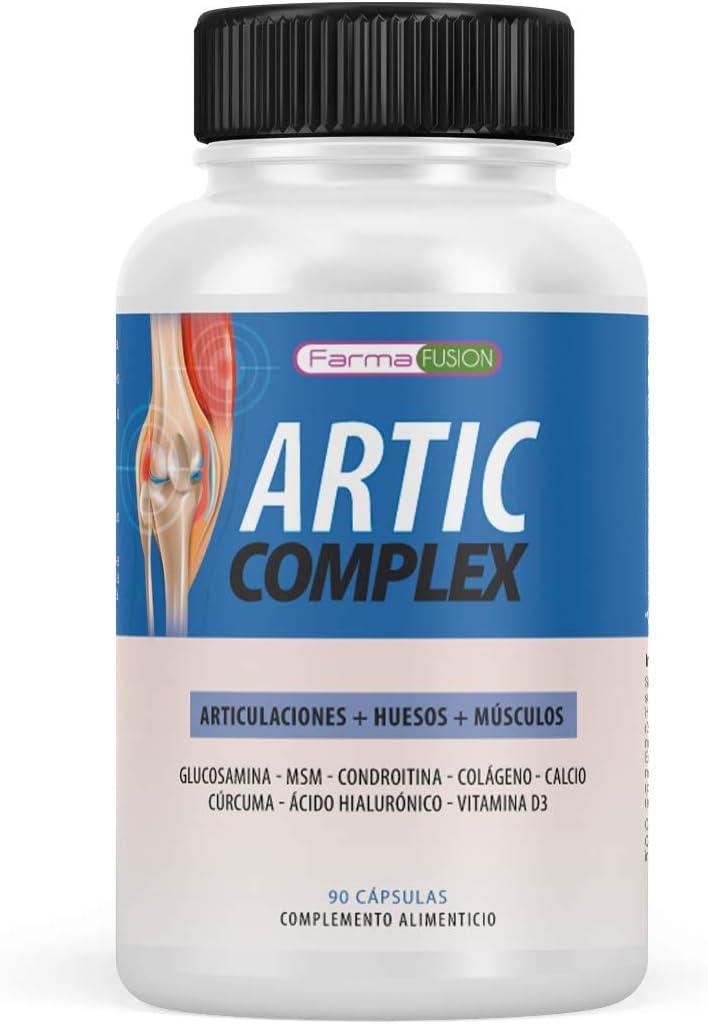 Cúrcuma, Glucosamina, Condroitina y Colágeno | Elimina el dolor en músculos, articulaciones y huesos | Potente antiinflamatorio con acción analgésica | Repara las articulaciones | 90 cápsulas