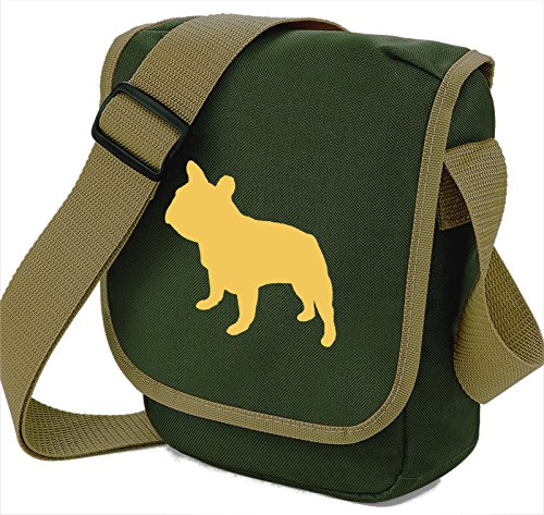 Dog Frenchie Colours Walkers Bag Bulldog Olive Beige Choice French Dog French Gift Bag Silhouette Shoulder of Reporter Bulldog Bag Bag XTxZp8q