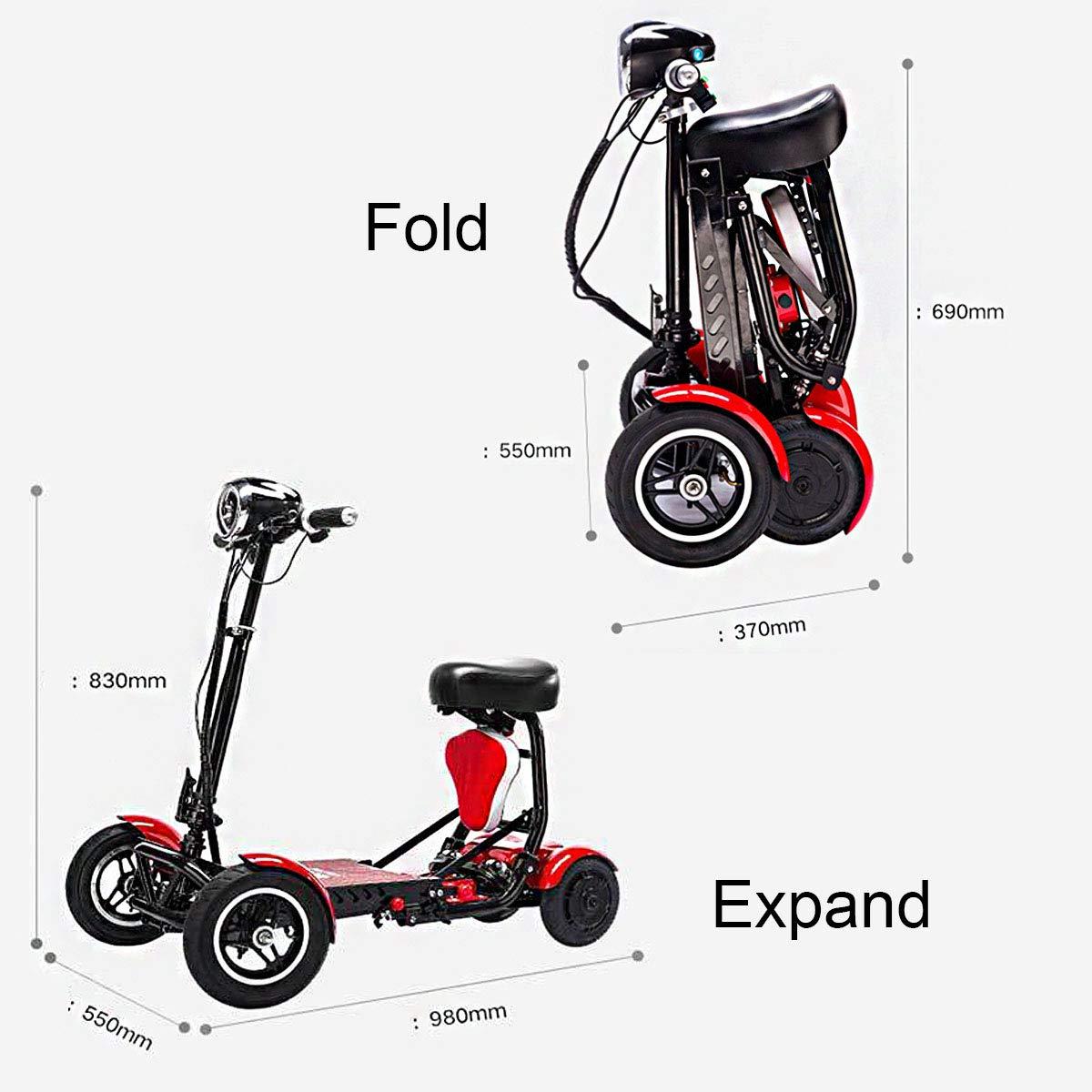SSCJ Scooter portátil de Movilidad de Viaje, Bota de Viaje ...