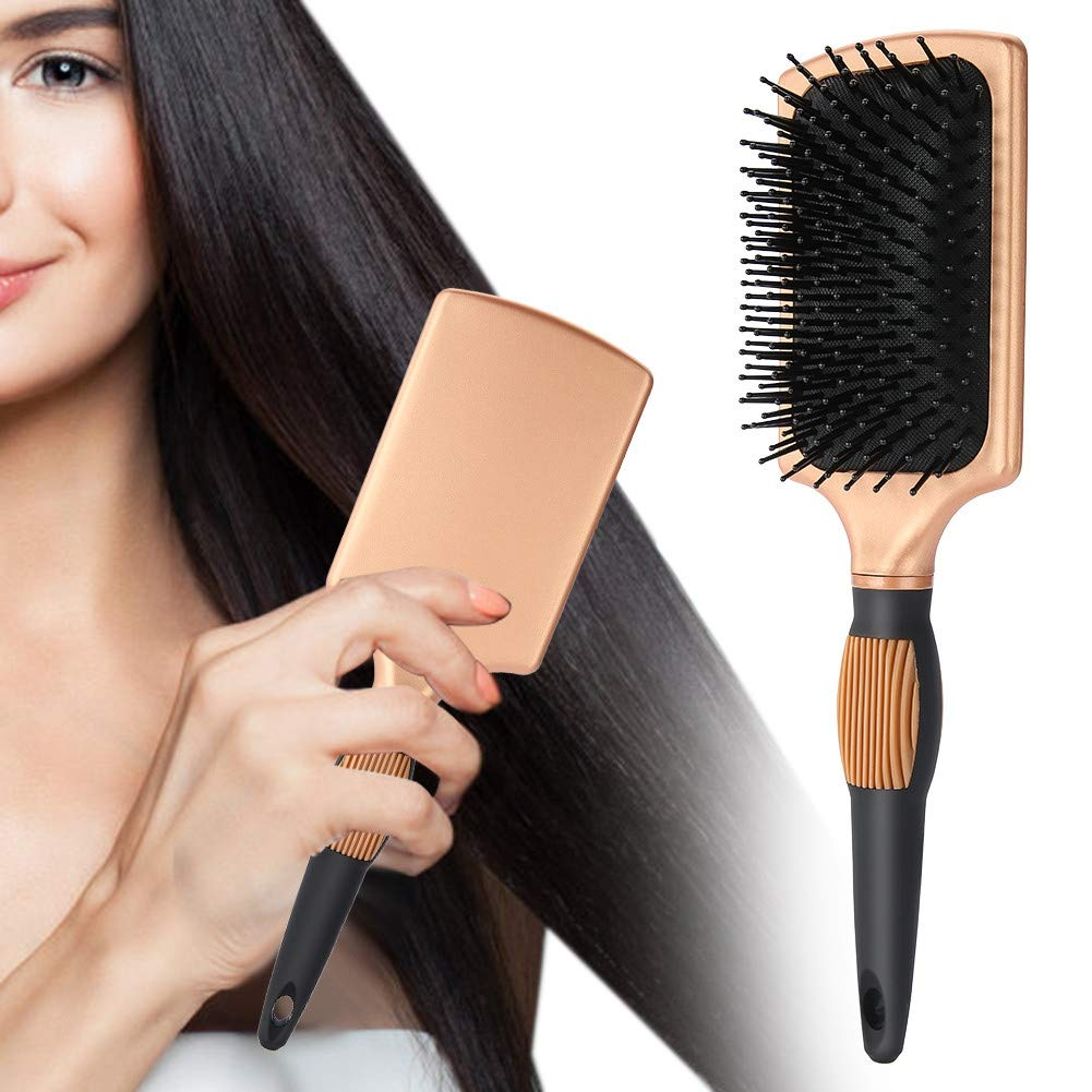 Flat Air Hair Brush, Anti Static Detangling Brush, Cushioned Hair Brush Comb Massage Paddle Brush Hairdressing Accessories by Salmue