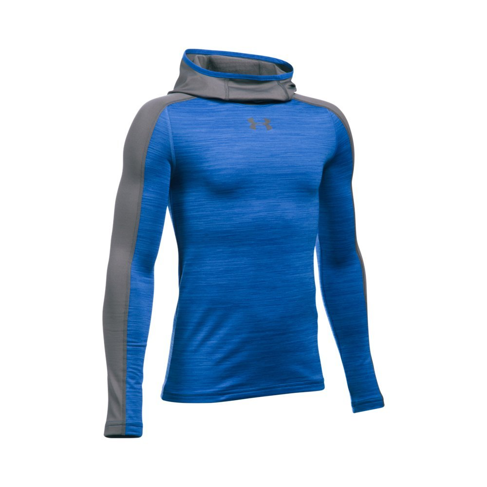Under Armour Boys' ColdGear Armour Up Ninja Hoodie, Ultra Blue , Youth Small