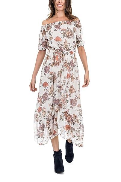 Vestido Largo SALSA Estampado Floral S