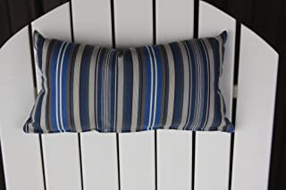 product image for Furniture Barn USA Outdoor Adirondack Chair Head Pillow in Sundown Material- Blue Stripe