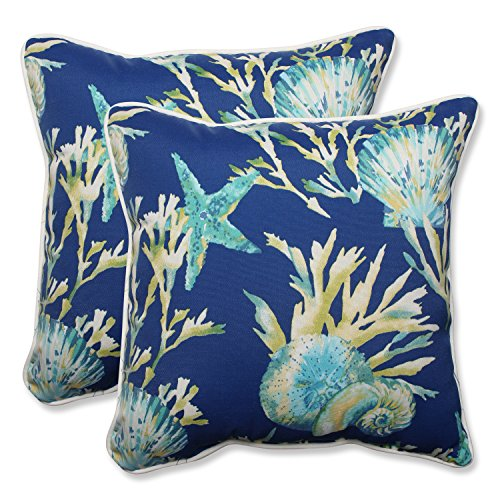 Pillow Perfect Outdoor/Indoor Daytrip Pacific Throw Pillow, Set of 2, 18.5
