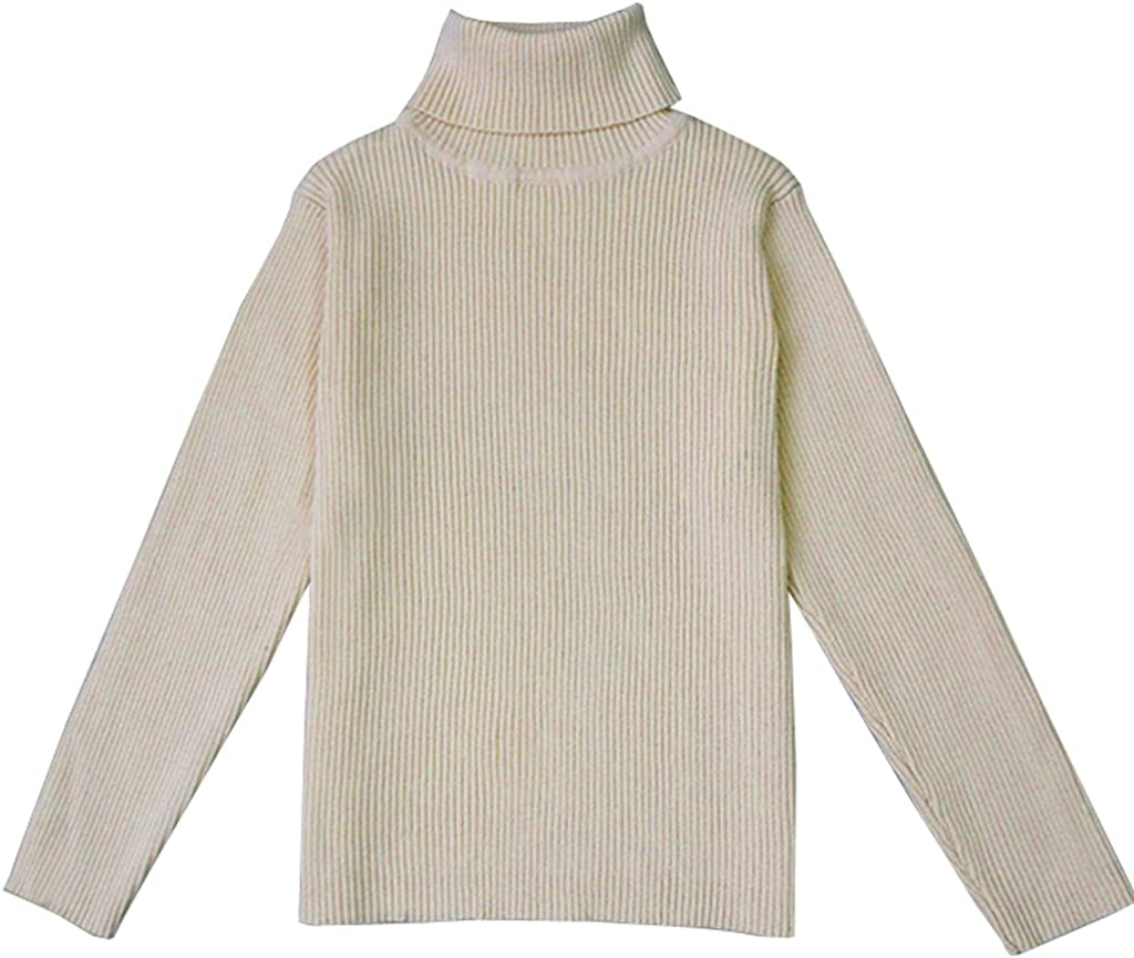 1-5T VduanMo Little Girls /& Boys Solid Turtleneck Cotton Sweater Coats