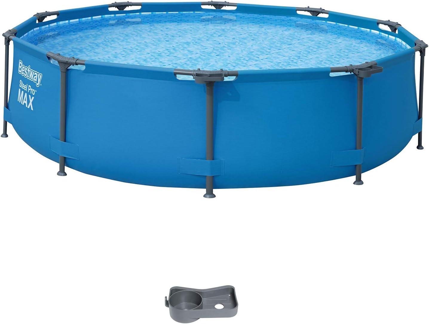 Bestway Steel Pro MAX Framepool ohne Pumpe, rund, 305 x 76 cm Piscina, Azul: Amazon.es: Jardín