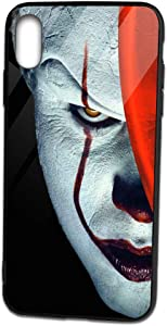 David M Sweet Pennywise iPhone Xs Max Case, Soft TPU and Tempered Glass Double Layer Mobile Phone Case Cover for 6.5 in