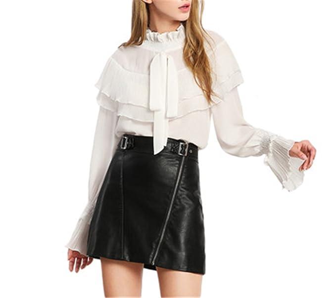 dbc45136b2918d JIANGTAOLANG Blouses Spring White Ruffle Long Sleeve Womens Blouses ...