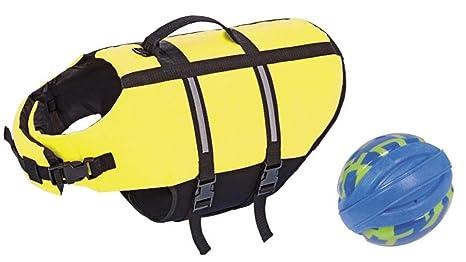 Flotador XL 45 cm para perros con balón de fútbol de natación ...
