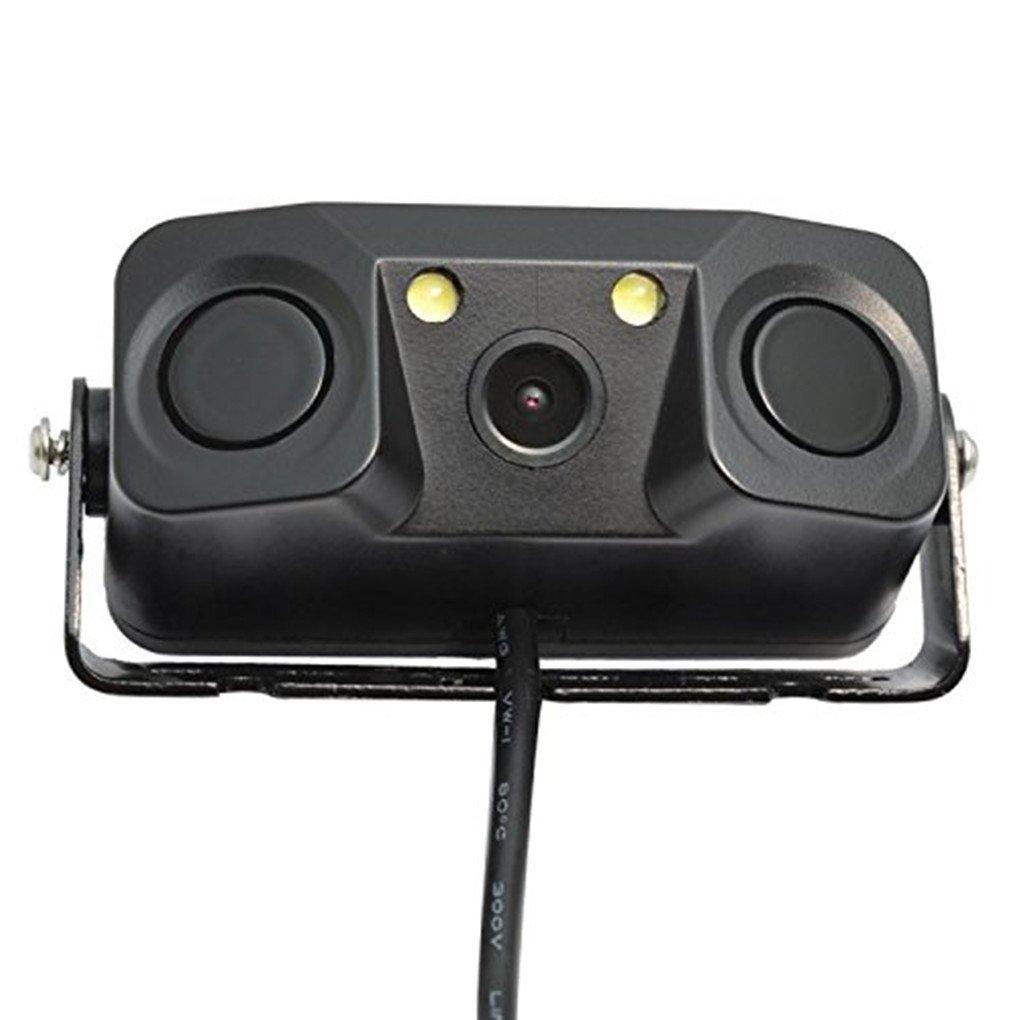 PARKVISION 3-in-1 Led Light Sensor Camera 600TVL High Resolution Backup Camera Wide Viewing Angle Night Vision Camera with 2 Radar Sensor