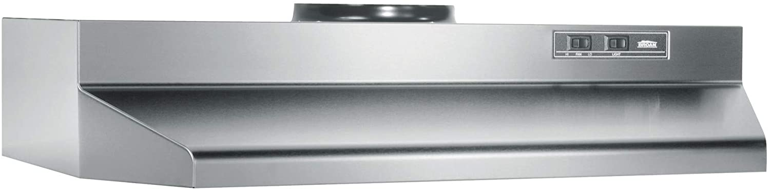"""B000HZTM7A Broan-NuTone 424204 Range Hood Insert with Light, Exhaust Fan for Under Cabinet, 6.0 Sones, 190 CFM, Stainless Steel, 42"""" 614aG88eYaL.SL1500_"""