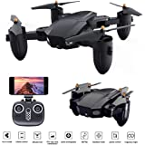 Mini Foldable Drone, 720P Camera 2MP 3D VR Live video HD Camera 2.4G Wifi FPV RC Quadcopter Headless Mode Altitude Hold 3D Flips Rolls 6-Axis Gyro RTF RC Drones APP Control