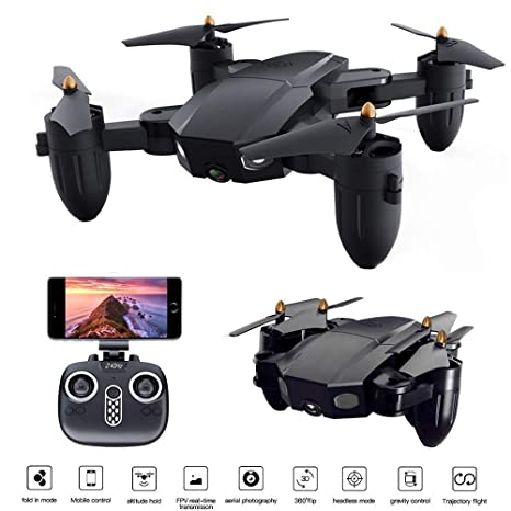 Cr Mini Selfie Plegable Drone con la cámara 2MP 3D VR Live Video ...