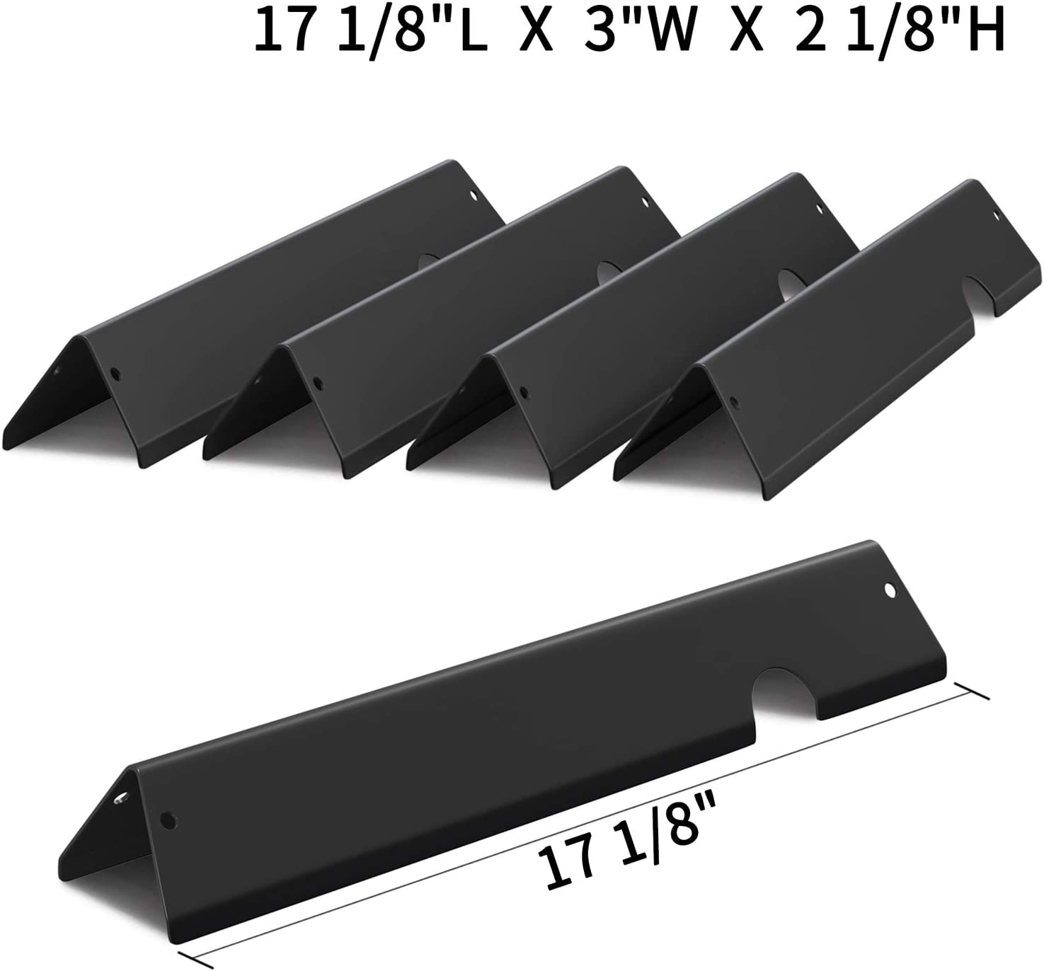 X Home 66032/66795 Porcelain-Enameled Flavorizer Bars for Weber Genesis II 300 Series Gas Grill, Set of 5