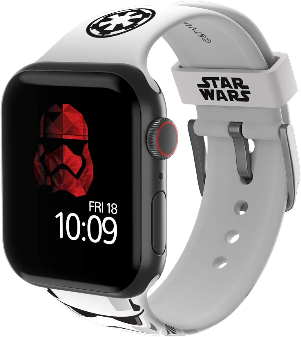 Star Wars - Stormtrooper Edition – Officially Licensed Silicone Smartwatch Band Compatible with Apple Watch, Fits 42mm and 44mm