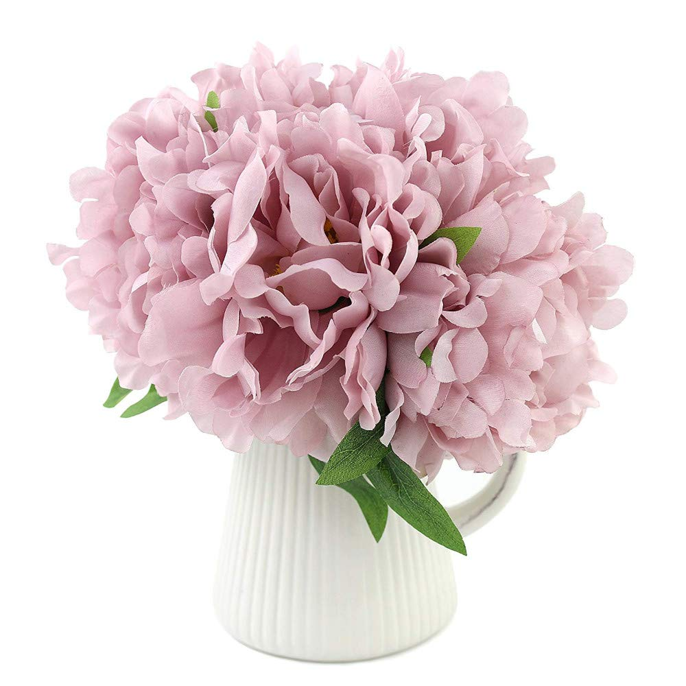 造花 牡丹 エレガント 人工シルクブーケ 装飾 リビングルーム ダイニングルーム 結婚式のセンターピース用 パープル B07Q2YG2NT