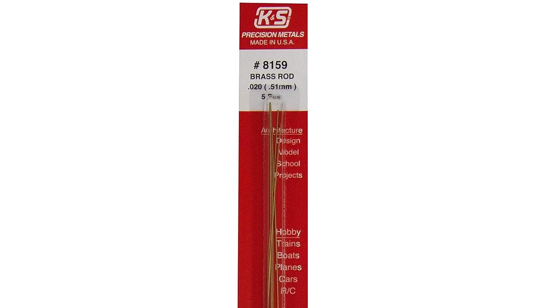 8159 K/&S .020 Solid Brass Rod 5