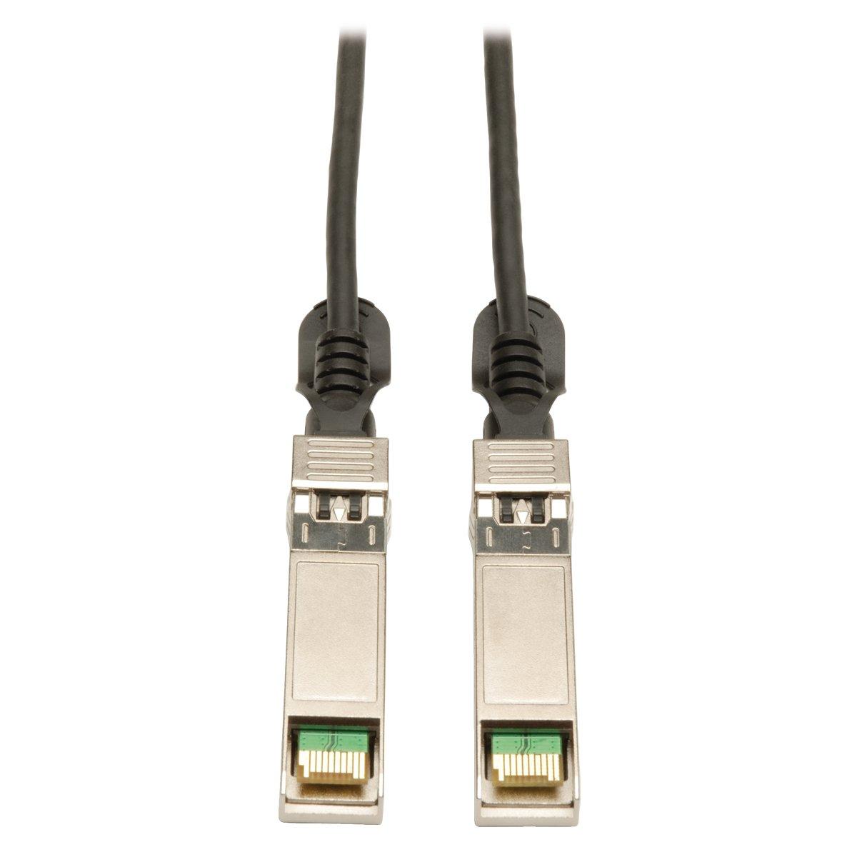 Tripp Lite SFP+ 10Gbase-CU Passive Twinax Copper Cable, Cisco Compatible SFP-H10GB-CU1M, Black 1M (3-ft.) (N280-01M-BK)