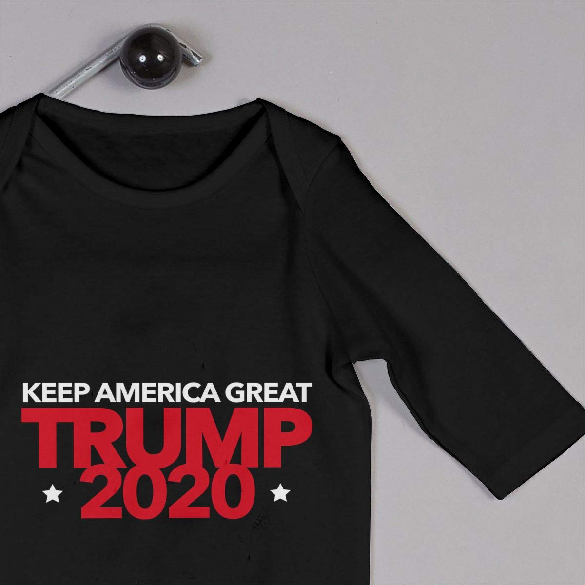 MiNgosRY Trump 2020 Keep America Great Newborn Baby Long Sleeve Bodysuits Rompers Outfits