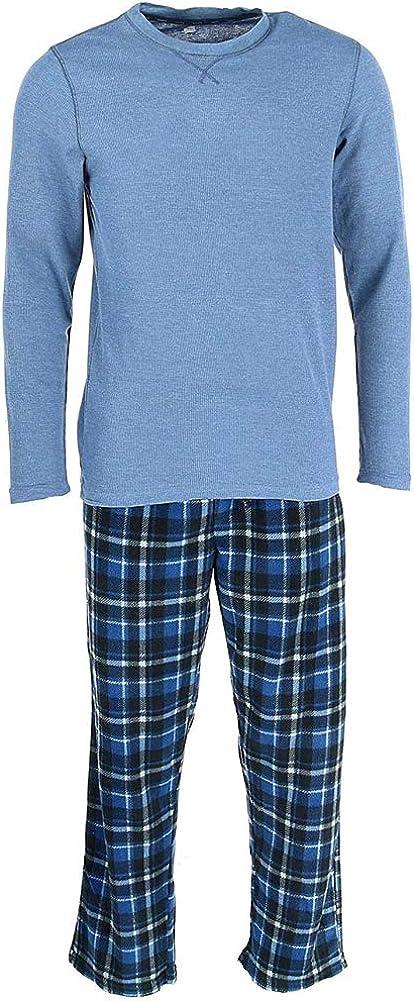 Hanes - Big and Tall Men's Thermal and Fleece Pajama Set