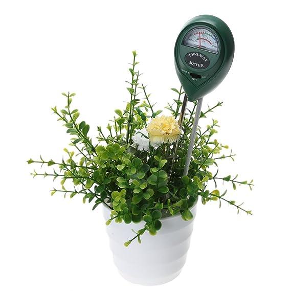everpert del suelo medidor de humedad y pH comprobador de nivel para plantas cultivos flores verduras: Amazon.es: Jardín