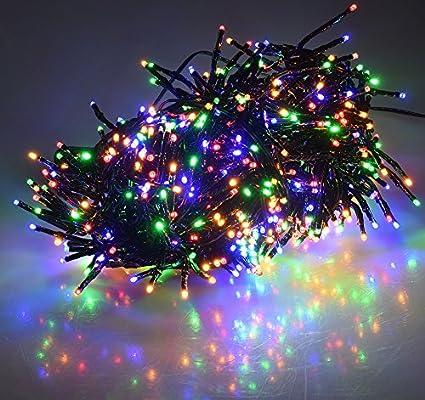 10m Zuleitung MULTICOLOR Multicolor, 6 Meter LED B/üschel-Lichterkette Cluster IP44 f/ür Innen und Au/ßen 8 Effekte,