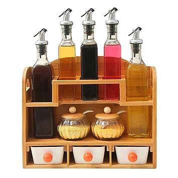 GARDEN botellas del condimento Utensilios de cocina Sazonador Set de tanque Vidrio Caja de condimentos creativa