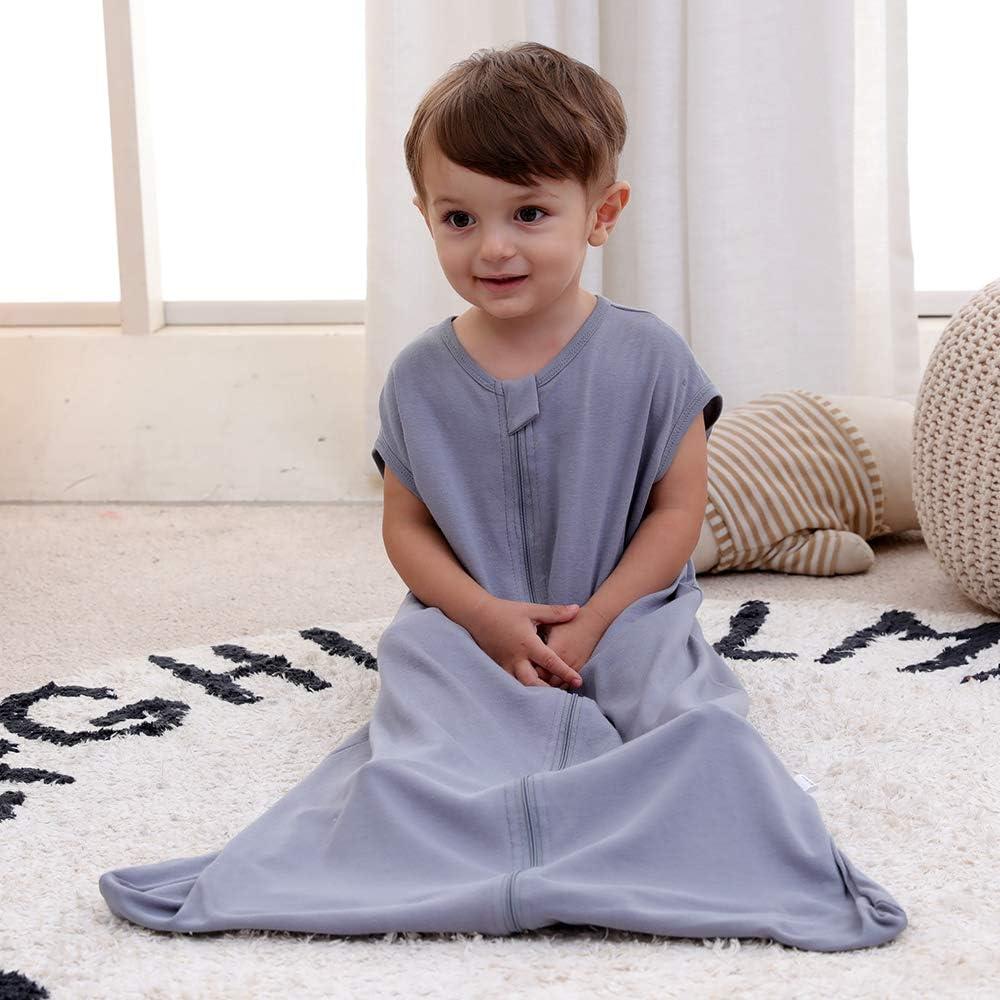 6-18 Monate primavera Saco de dormir para beb/é de verano para ni/ña Talla:90 cm 0,5 tog azul Jirafa azul pijama de algod/ón fino con b/úho verde