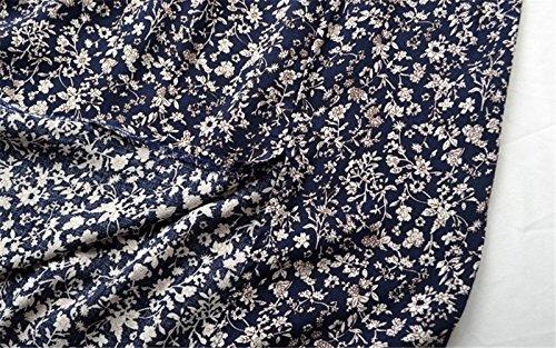 Azul Pecho XXL de CXSM Flores 2018 ranurada clothes aplastado En el Envolvió Verano Señoras Hombro Sexy Vestido 8aCZpwTqa