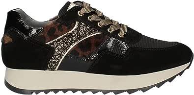 Sneackers NeroGiardini Informal I013193D Mujer de Negro Gamuza Un Calzado cómodo Adecuado para Todas Las Ocasiones. Otoño / inverno2020-2021. 35 UE