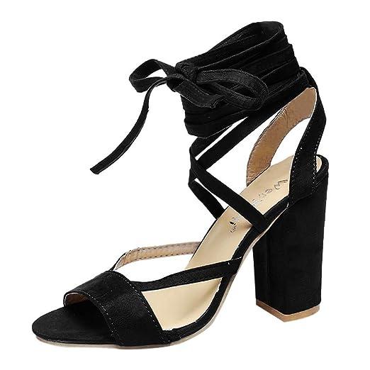 bdac3545c484 Amazon.com: Sunskyi Women Chunky Heels Sandals,Ladies Summer Sexy ...