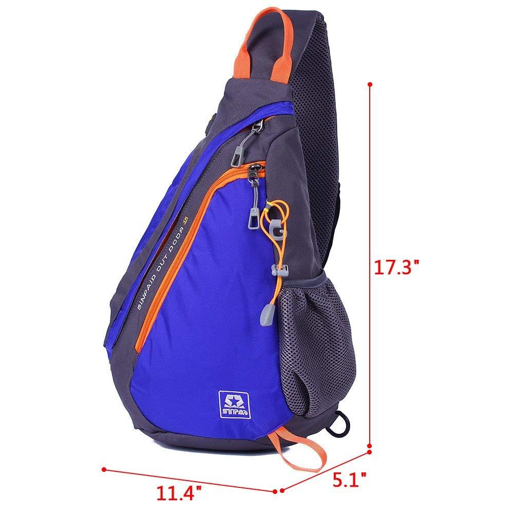 Amazon.com   EGOGO Multi-Functional Sling Pack Backpack Cross Body Pack  Shoulder Sling Bag (Blue)   Sports   Outdoors 1b5a488e58073